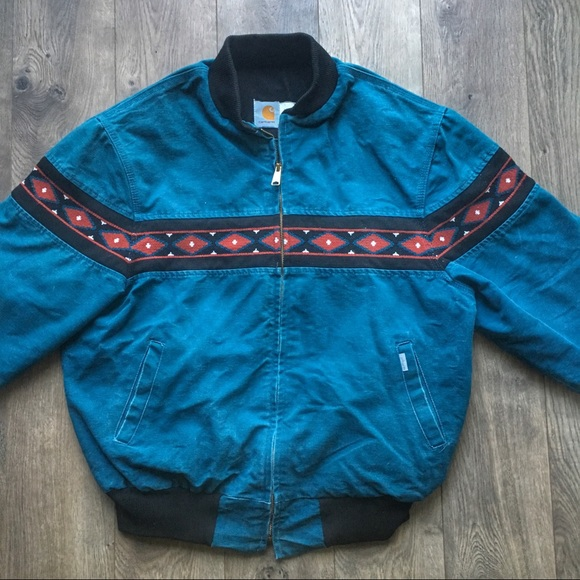Canvas Santa Fe >> Vintage Carhartt Aztec Santa Fe Canvas Jacket